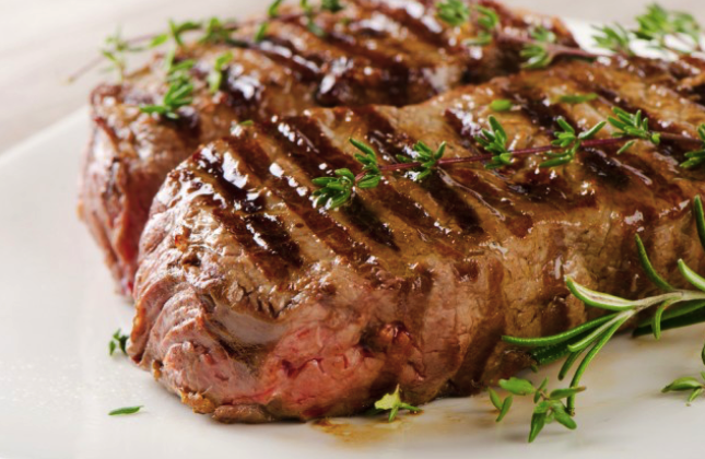 low cholesterol recipe with grilled beef sirloin