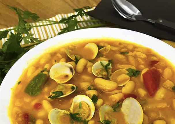 white beans with clams - delicious low-cholesterol recipe that taste good